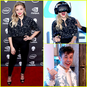 Chloe Moretz & Nolan Gould Play Virtual Reality Games at Alienware Party!