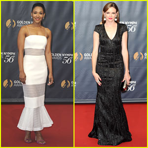 Candice Patton & Danielle Panabaker Glam Up Monte Carlo TV Festival Closing Gala