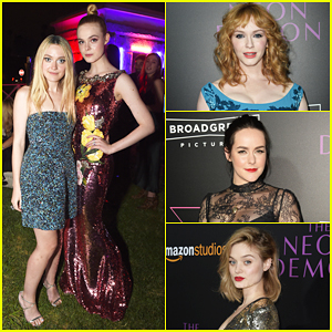 Elle Fanning Gets Support From Sister Dakota At 'Neon Demon' Premiere!