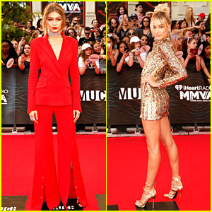 Gigi Hadid Is Red Hot for MMVAs 2016 with Hailey Baldwin!