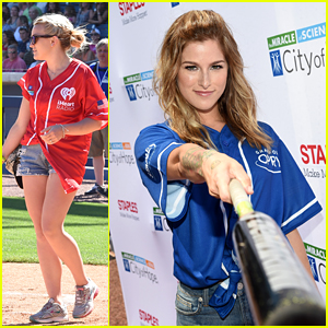 Jamie Lynn Spears & Cassadee Pope Play Ball at City of Hope Softball Game