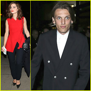 Jenna Coleman & Jamie Campbell Bower Hit Dior Cruise After Party in London