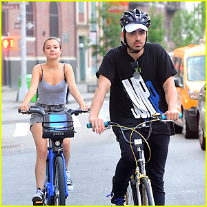 Joe Jonas & Model Eileen Kelly Cycle City Streets Together