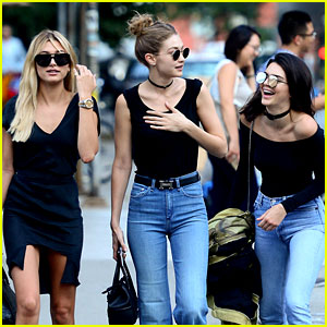 Kendall Jenner, Gigi Hadid, & Hailey Baldwin Have Summer Fun in NYC!