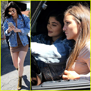 Kylie Jenner Snaps a Selfie with a Lucky Fan from Her Car's Front Seat