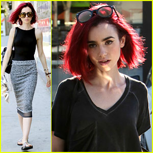 Lily Collins Goes Red - See Her New Hair Color!