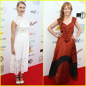 Lucy Fry & Stef Dawson Represent Australians At Heath Ledger Scholarship Dinner!