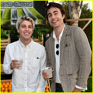 Lukas Gage & Oliver Edwin Buddy Up at Just Jared & Vintage Grocers' Malibu Dinner