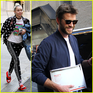 Liam Hemsworth & Miley Cyrus Get to Work in New York City