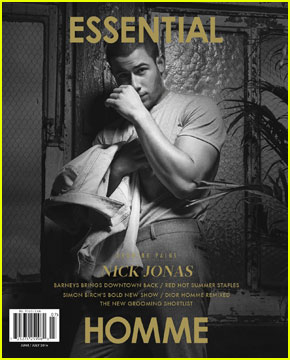 Nick Jonas Covers 'Essential Homme' Magazine June/Jule 2016 (Exclusive)