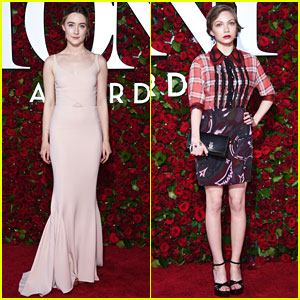 Saoirse Ronan & Tavi Gevinson Glam Up for Tony Awards 2016