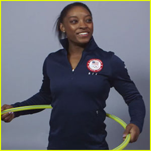Simone Biles, Gabby Douglas & Other Olympics Hopefuls Give Hula Hooping a Try