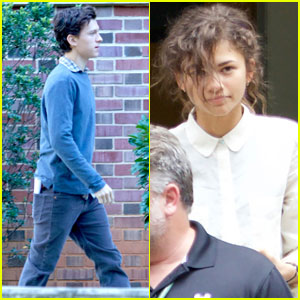 Zendaya Gets to Work on 'Spider-Man' With Tom Holland in Atlanta