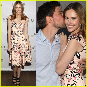 Torrance Coombs & Alyssa Campanella Couple Up at Summer Dinner party