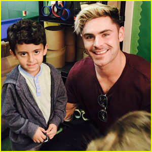 Zac Efron Reminds Super Cute Schoolchildren to Stay in School