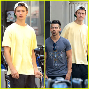 Ansel Elgort & Joe Jonas Enjoy a Boys Day in NYC