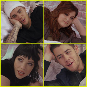Justin Bieber, Meghan Trainor, & More Get in Bed Together for 'Famous' Video Spoof - Watch Now!