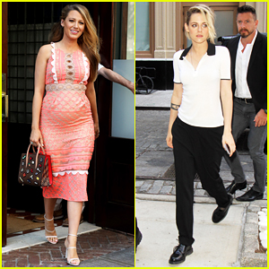 Blake Lively & Kristen Stewart Reunite In NYC For 'Cafe Society'!