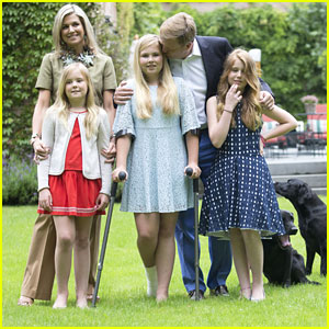 Princess Catharina-Amalia Walks on Crutches For Dutch Royal Family Summer Portraits
