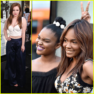 China Anne McClain & Sierra McCormick Have 'A.N.T. Farm' Reunion at 'Lights Out' Premiere