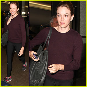 Danielle Panabaker Hides Her Engagement Ring At LAX