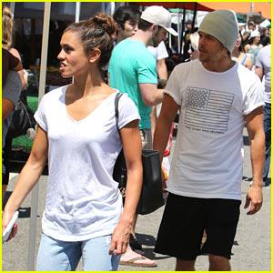 Derek Hough & Girlfriend Hayley Erbert Enjoy a Date at the Farmer's Market!