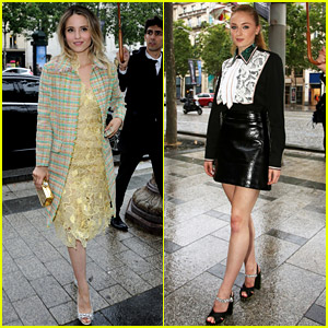 Dianna Agron Attends Miu Miu Presentation with Sophie Turner