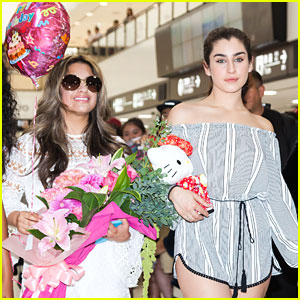 Fifth Harmony Arrive in Japan on Ally Brooke's Birthday
