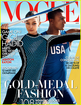 Gigi Hadid Covers 'Vogue' August 2016 with Olympian Ashton Eaton!