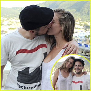 Kendall Schmidt Kisses Girlfriend Micaela Von Turkovich in Ischia