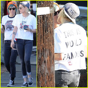 Kristen Stewart & Alicia Cargile Share a Kiss While Out in LA