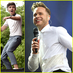 Nathan Sykes & Olly Murs Have A Blast at British Summer Time Festival