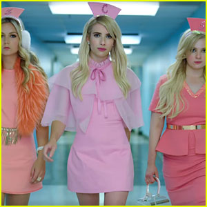 Emma Roberts & the Chanels Strut Their Stuff in New 'Scream Queens' Promo