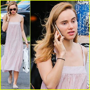 Suki Waterhouse Walks & Talks in New York City