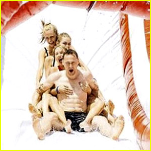 Taylor Swift Rides #Taymerica Water Slide with Boyfriend Tom Hiddleston!