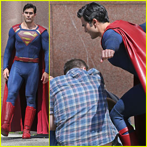 Tyler Hoechlin Saves The Day as Superman While Filming For 'Supergirl'