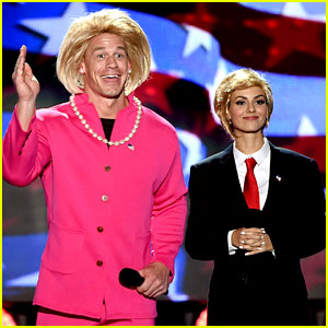 Victoria Justice Spoofs Donald Trump at Teen Choice Awards 2016!
