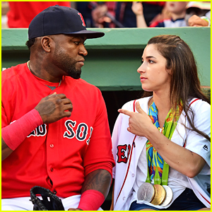 Aly Raisman Turns David Ortiz Into Medal Holder at Boston Red Sox Game