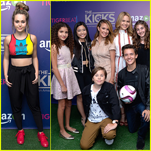 Brec Bassinger Hits 'The Kicks' Premiere With Sixx Orange & Gabe Eggerling