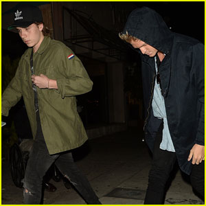 Brooklyn Beckham & Cody Simpon Meet Up For Dinner at The Nice Guy
