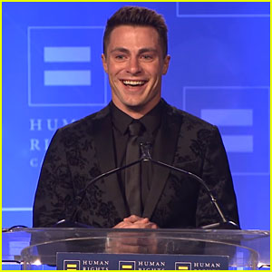 Colton Haynes Becomes Emotional Over HRC Visibility Award