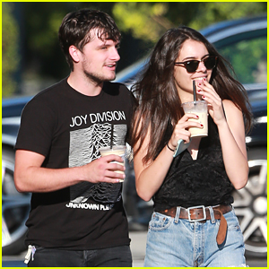 Josh Hutcherson & Claudia Traisac Enjoy Coffee During Day Off From 'Tragedy Girls'