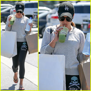 Lea Michele Runs Errands After An Early Morning Workout!