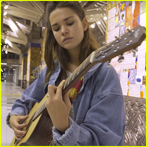 Maia Mitchell Covers 'Let Me Love You' In Subway - Watch Now!