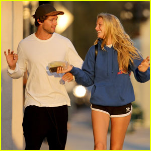 Patrick Schwarzenegger & Abby Champion Couple Up at a Concert
