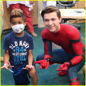 Tom Holland Dresses as Spider-Man to Visit Children's Hospital!