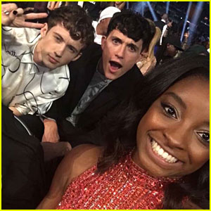 Simone Biles Shares Pic with Troye Sivan & His Beau Jacob Bixenman