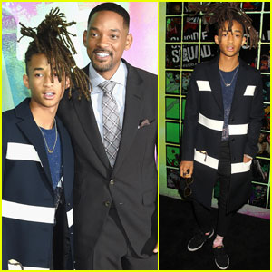 Jaden Smith Supports His Dad Will at 'Suicide Squad' Premiere