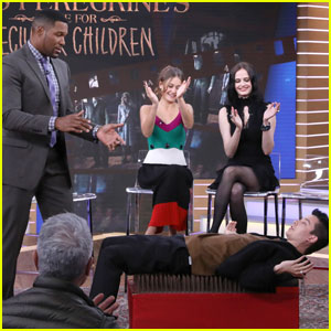 Asa Butterfield Casually Lies on Bed of Nails on 'GMA' - Watch Now!
