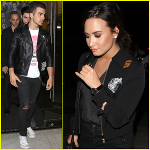 Demi Lovato & Joe Jonas Stop By Christina Milian's Birthday Party
